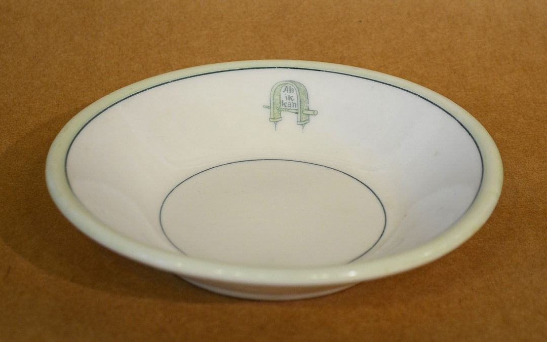 Bowl used in the Craftsman Building Tea Room
